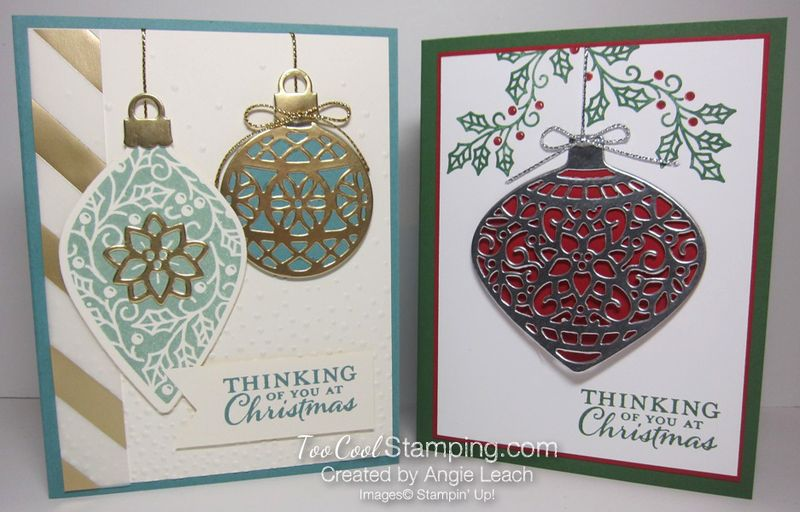 Embellished ornaments - two cool