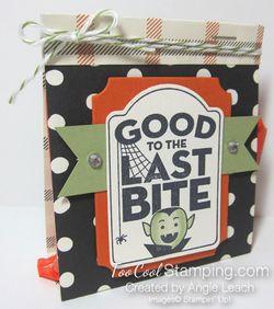 Last Bite Treat Bags - black dots
