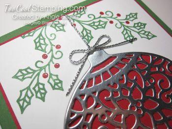 Embellished ornaments silver - 4