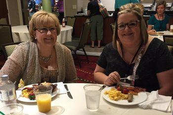 Dawn Bourgette & Kim Vogel at breakfast