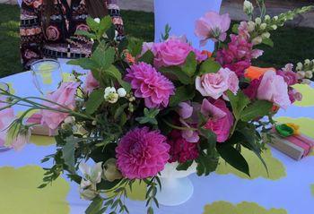 Final dinner flowers