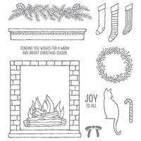 Festive fireplace 140860O2