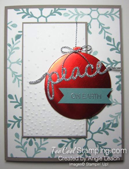 Holly Jolly Ornament - peace