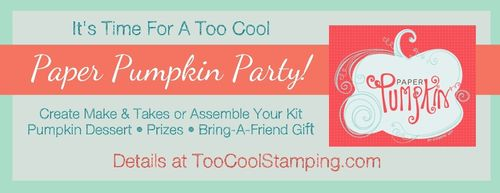 Paper Pumpkin Party banner