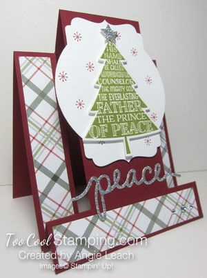 Peaceful pines step cards - prince of peace