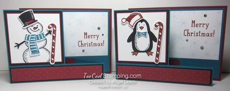 Snow place side pull card - two cool