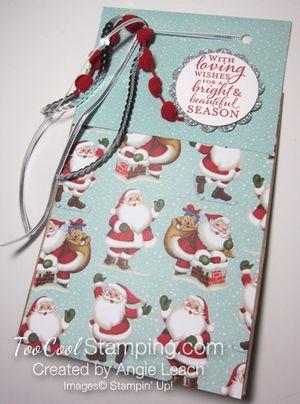 Christmas gift bags - santas