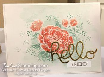 Birthday blooms - FC watercolor resist hello
