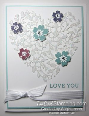 Bloomin' heart dazzle - white