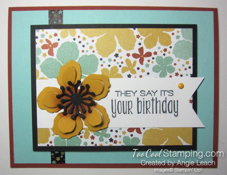 Botanical blooms - birthday