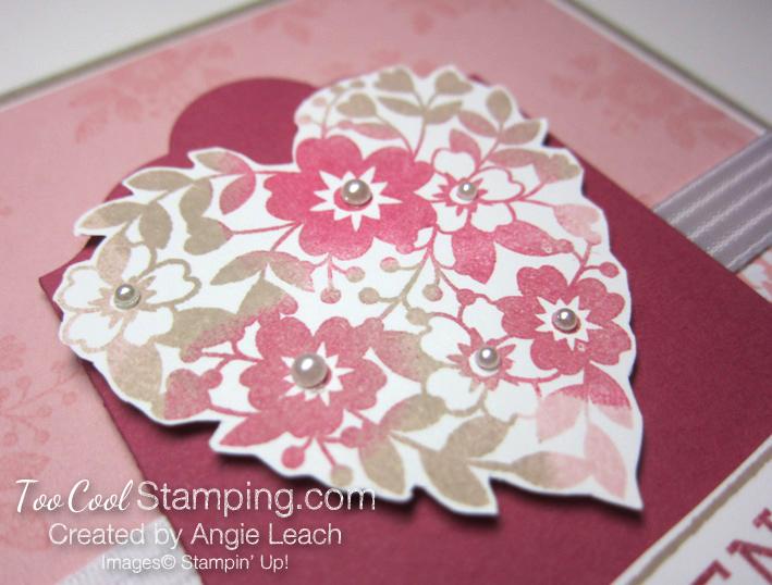 Bloomin love sponged heart - friend center 2.5