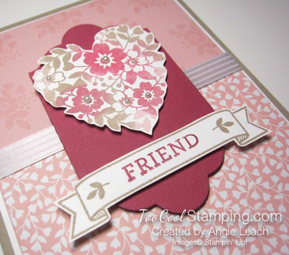 Bloomin love sponged heart - friend center 5