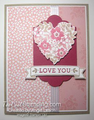 Bloomin love sponged heart - love you