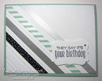 Stylish stripes washi tape - birthday