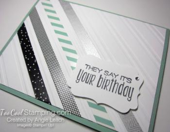 Stylish stripes washi tape - birthday2