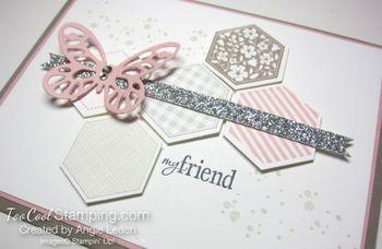 Hexagon butterfly - blushing2