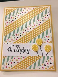 Peggys party wishes washi tape card