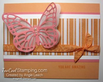 Flamingo butterfly resist - stripes
