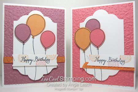 Birthday Balloons Peekaboo Peach - two cool