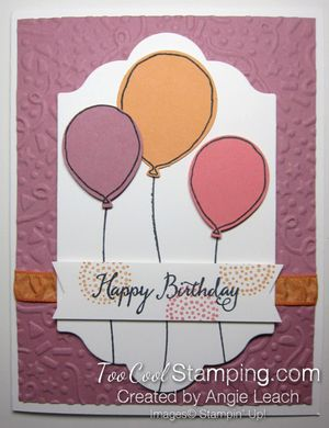 Birthday Balloons Peekaboo Peach - plum