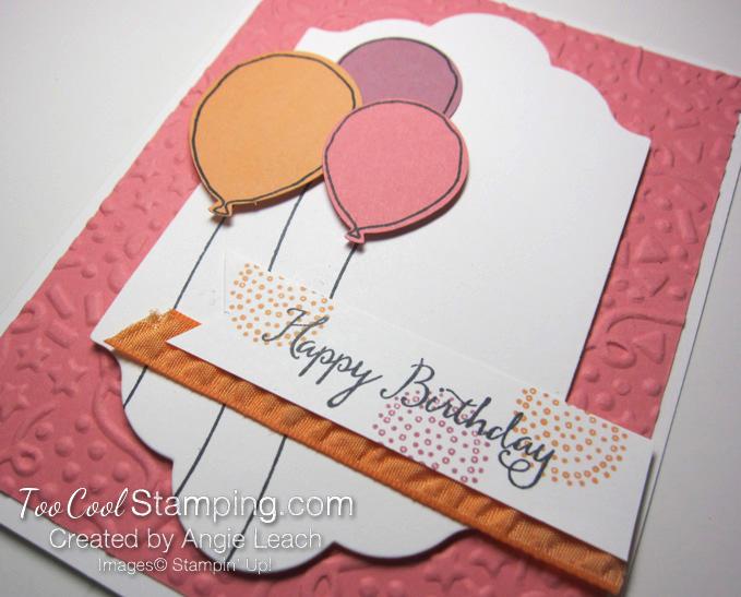 Birthday Balloons Peekaboo Peach - flamingo 2