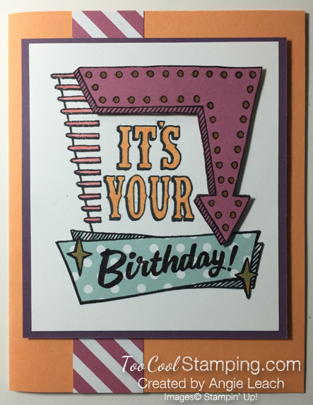 Marquee messages in colors - birthday