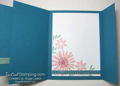 Blooms & wishes gate fold - indigo 4
