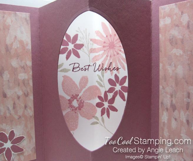 Blooms wishes tunnel card - sugarplum open 2