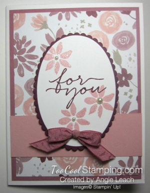Blooms wishes tunnel card - sugarplum
