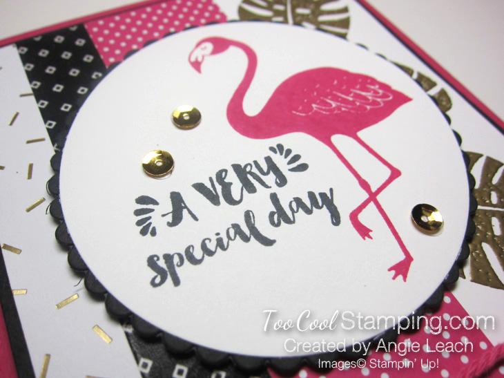 Pop of pink flamingo gold - leaves circle 3