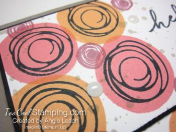 Stamped swirly bouquet - warm 2