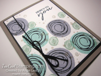 Stamped swirly bouquet - cool 3