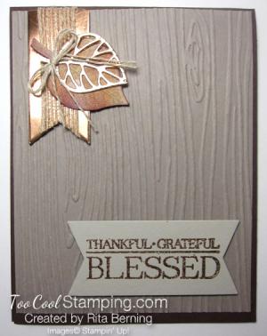 Rita - woodgrain leaves blessed 1