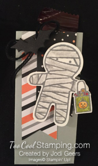 Jodi cookie cutter halloween treat - mummy
