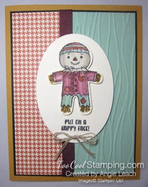 Cookie cutter halloween scarecrow - mint