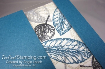 Vintage leaves window - denim 6