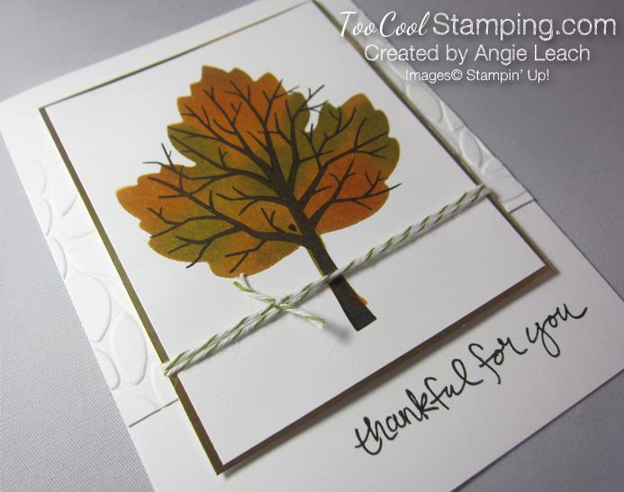 Sponged maple tree - thankful 3