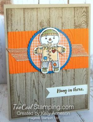 Halloween cookie cutter scarecrow - kelly acheson