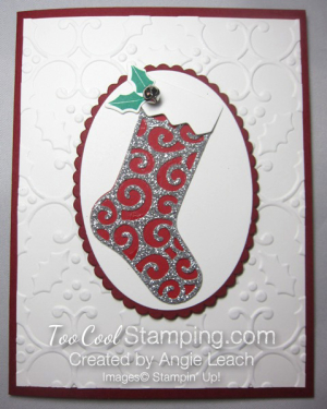Hang your stocking single silver - swirls