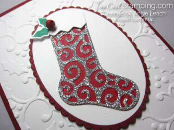 Hang your stocking single silver - swirls 2