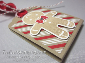 Cookie Cutter Christmas Chocolate Holder - stripes 3