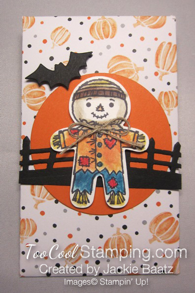 Jackie halloween scarecrow pouch