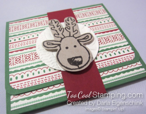 Darla this christmas gift card holder - rudolph
