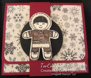 Darla this christmas gift card holder - eskimo