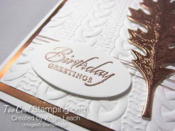 Copper Vintage Leaf - birthday oak 2
