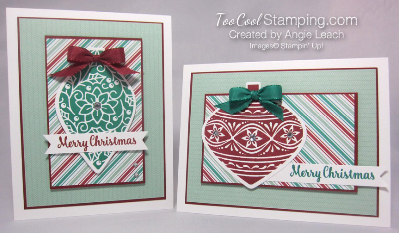 Retro embellished ornaments - two cool