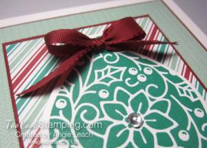 Retro embellished ornaments - emerald 4