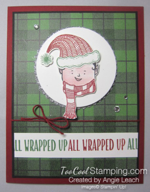 Jolly friends elf - green plaid