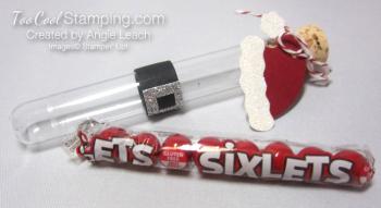 Santa test tubes - sixlets