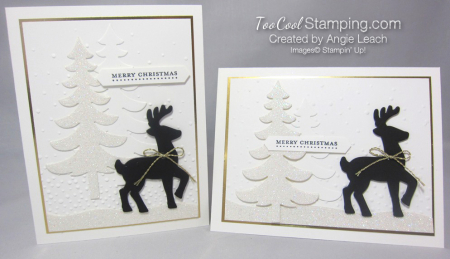 Dazzling reindeer silhouette - two cool